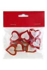 Набор сувениров Переливающиеся сердечки