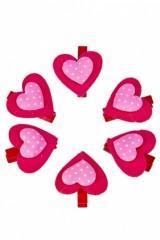 Набор украшений декор. Розовые сердца
