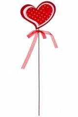 Украшение декоративное Сердце в горошек