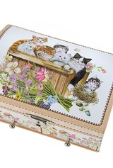 Шкатулка для ювелирных украшений Счастливые котята