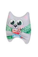 Игрушка-подушка мягкая Новогодний котейка