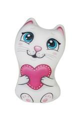 Игрушка-подушка мягкая Кошечка с сердечком