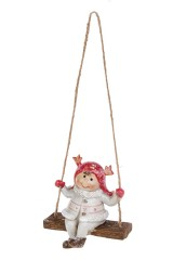Украшение декоративное Малышка на качелях