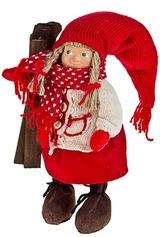 Кукла декоративная Малыш с лыжами
