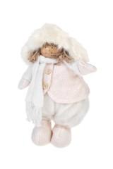Кукла декоративная Малышка шапке-ушанке и шарфике