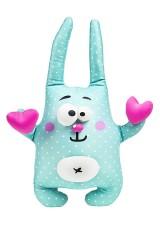 Игрушка мягконабивная Зайчик с двумя сердечками