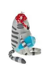 Игрушка мягконабивная Кот-пират