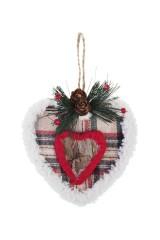 Украшение декоративное Клетчатое сердце