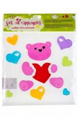 Набор аппликаций Медвежонок с сердцем