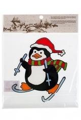 Аппликация Пингвин на лыжах