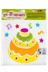 Набор аппликаций Праздничный торт