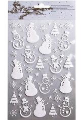 Набор наклеек Снеговики