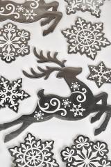 Набор наклеек Олени и снежинки