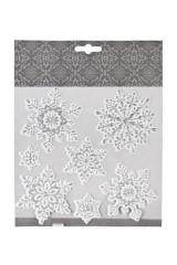 Набор наклеек новогодних Прекрасные снежинки
