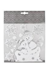 Набор наклеек новогодних Веселые снеговики