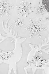 Набор наклеек Сказочные олени и снежинки