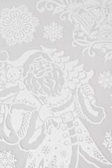 Набор наклеек Дед Мороз с подарками и снежинки