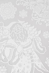 Набор наклеек новогодних Дед Мороз с подарками и снежинки