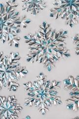 Набор наклеек новогодних Сияние снежинок
