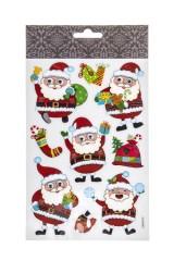 Набор наклеек новогодних Веселые Деды Морозы