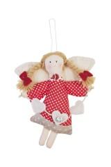Кукла мягконабивная Ангелочек с сердечками