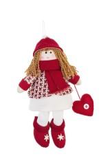 Кукла мягконабивная Девочка с сердечком