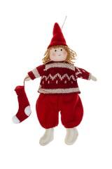Кукла мягконабивная Малышка в свитерке