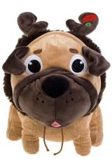 Игрушка мягконабивная Мопс-олень