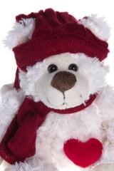 Игрушка мягкая Миша в шапочке и шарфике