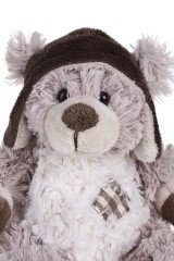 Игрушка мягкая Мишуля в свитере и шапочке