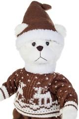 Игрушка мягконабивная Мишка в свитерке и колпаке