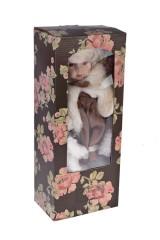 Кукла Леди в шубке с мишкой