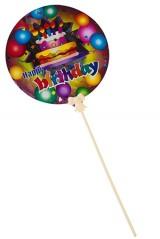 Шар самонадувающийся С днем рождения