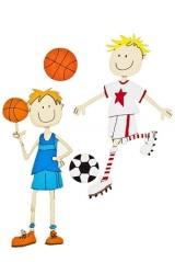 Набор наклеек Футболист и волейболист