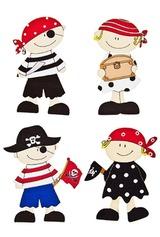 Набор наклеек Пираты и пиратки