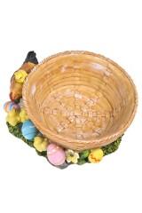 Корзинка для яиц декор. Курочка с цыплятами