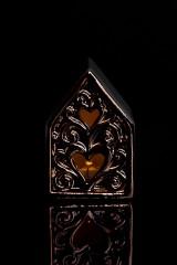Украшение для интерьера светящееся Домик с сердцами