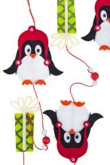 Украшение декоративное Гирлянда - Пингвины