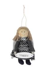 Кукла мягконабивная Счастливая малышка