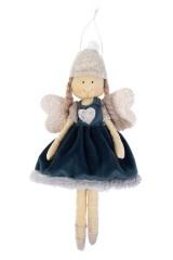 Кукла мягконабивная Ангелок в зимнем платье
