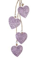 Украшение декоративное Подвеска из ажурных сердец