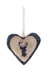 Украшение декоративная Сердце с узором