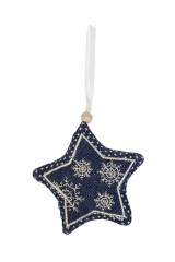 Украшение декоративная Звезда с узором