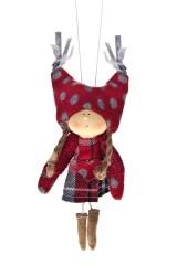 Кукла декоративная Девочка в клетч. платье
