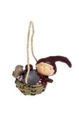 Украшение декоративное Малыш в корзинке