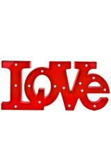 Украшение декоративное светящееся Любовь