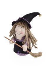 Кукла декоративная Ведьмочка с метлой