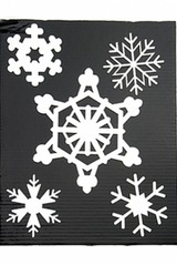 Набор аппликаций новогодних Снежинки-1