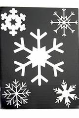 Набор аппликаций новогодних Снежинки-2