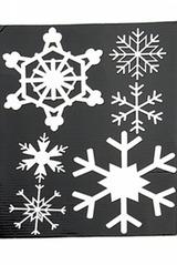 Набор аппликаций новогодних Снежинки